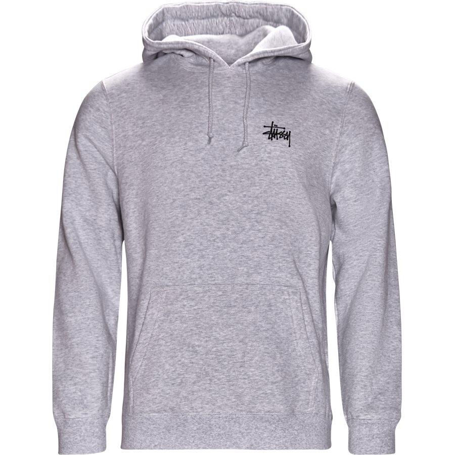 BASIC STUSSY HOOD 1924257 - Basic Stüssy Hood - Sweatshirts - Regular - GRÅ - 1