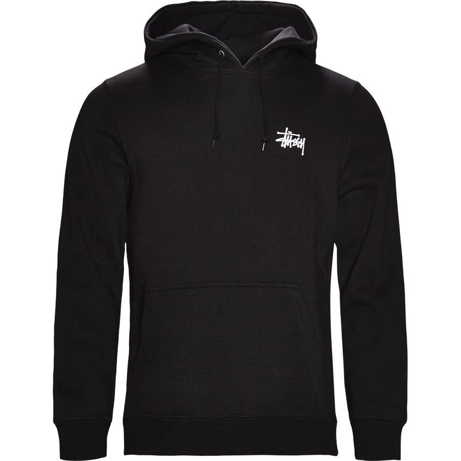 BASIC STUSSY HOOD 1924257 - Basic Stüssy Hood - Sweatshirts - Regular - SORT - 1