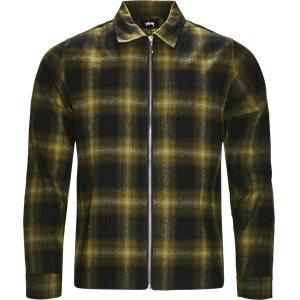 Zip Up Shadow Shirt Regular | Zip Up Shadow Shirt | Grøn