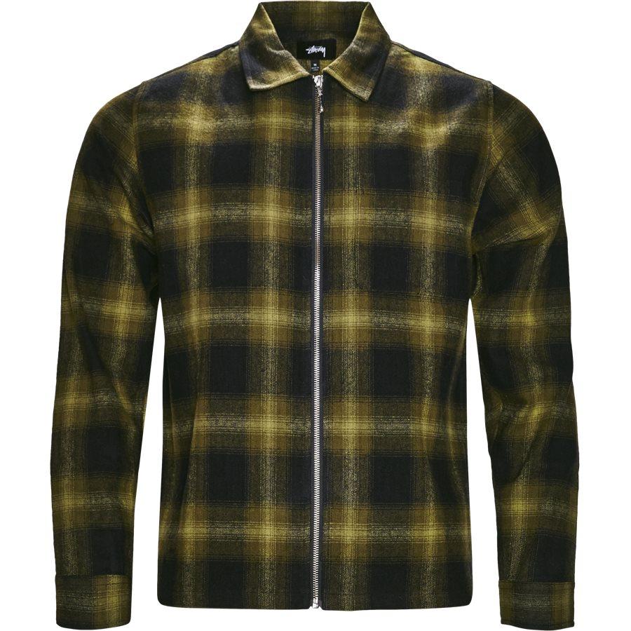 ZIP UP SHADOW SHIRT 111997 - Zip Up Shadow Shirt - Skjorter - Regular - GRØN - 1