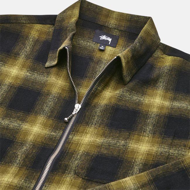 Zip Up Shadow Shirt