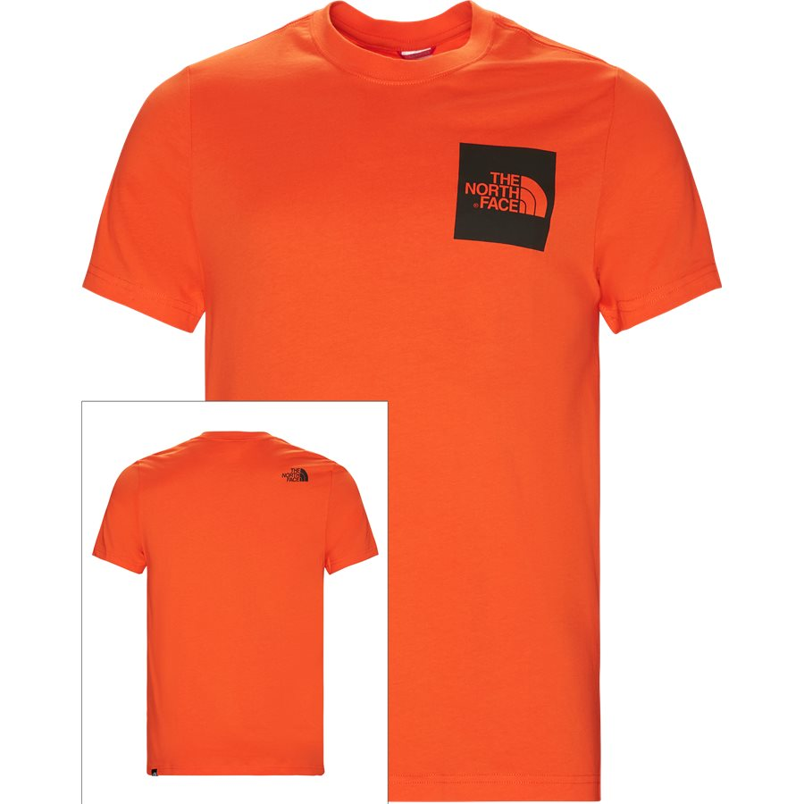 FINE TEE SS. - Fine Tee SS - T-shirts - Regular - ORANGE - 1