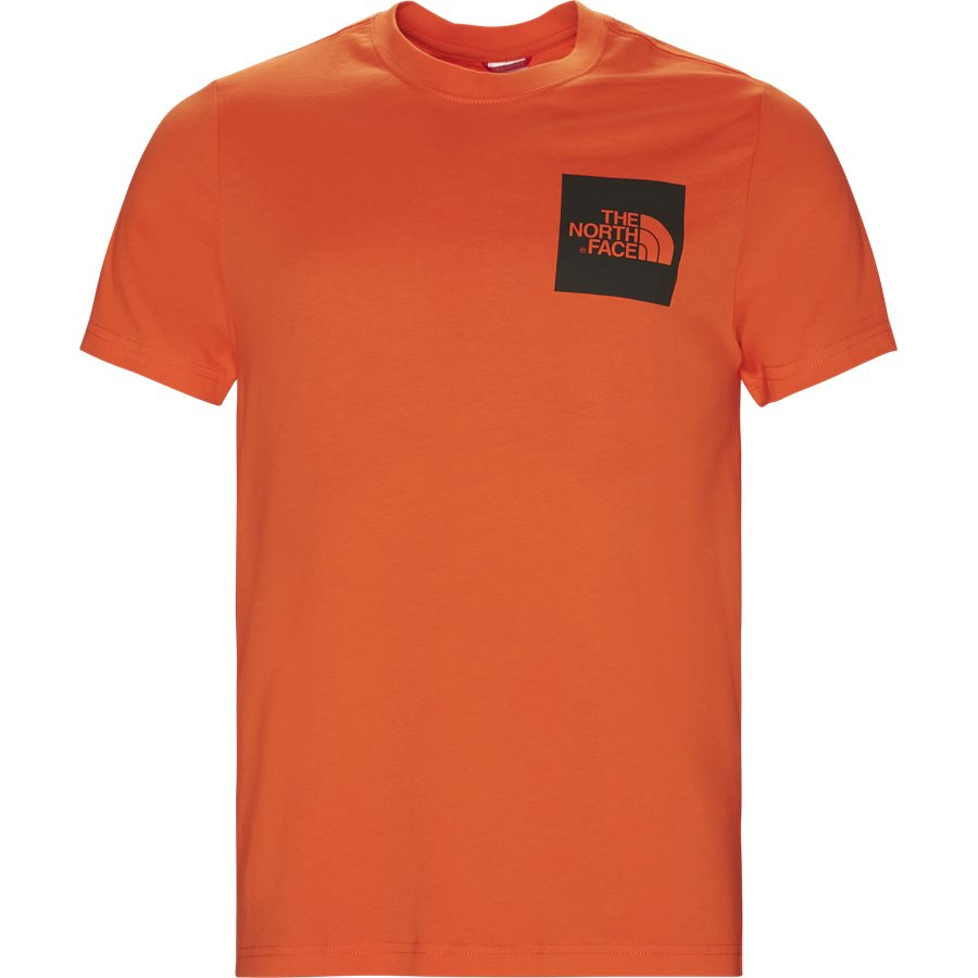 FINE TEE SS. - Fine Tee SS - T-shirts - Regular - ORANGE - 2