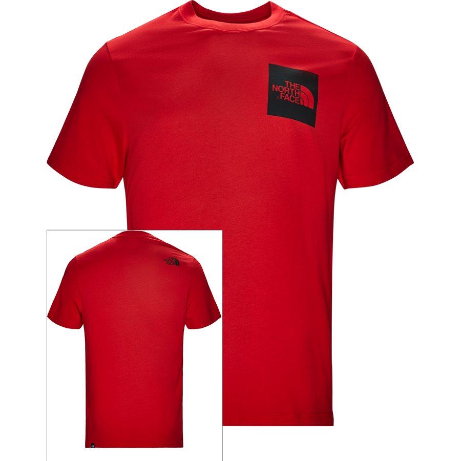FINE TEE SS. - Fine Tee SS - T-shirts - Regular - RØD - 1