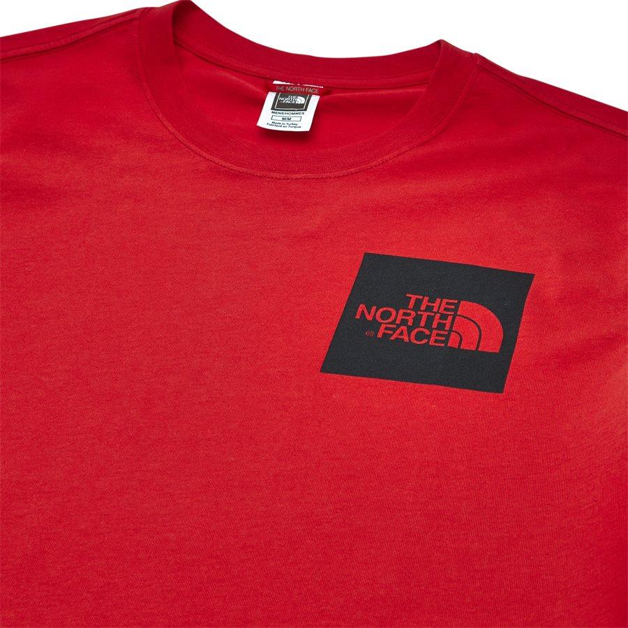 FINE TEE SS. - Fine Tee SS - T-shirts - Regular - RØD - 4