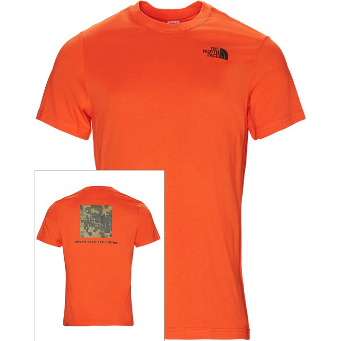 Red Box Tee - T-shirts - Regular - Orange
