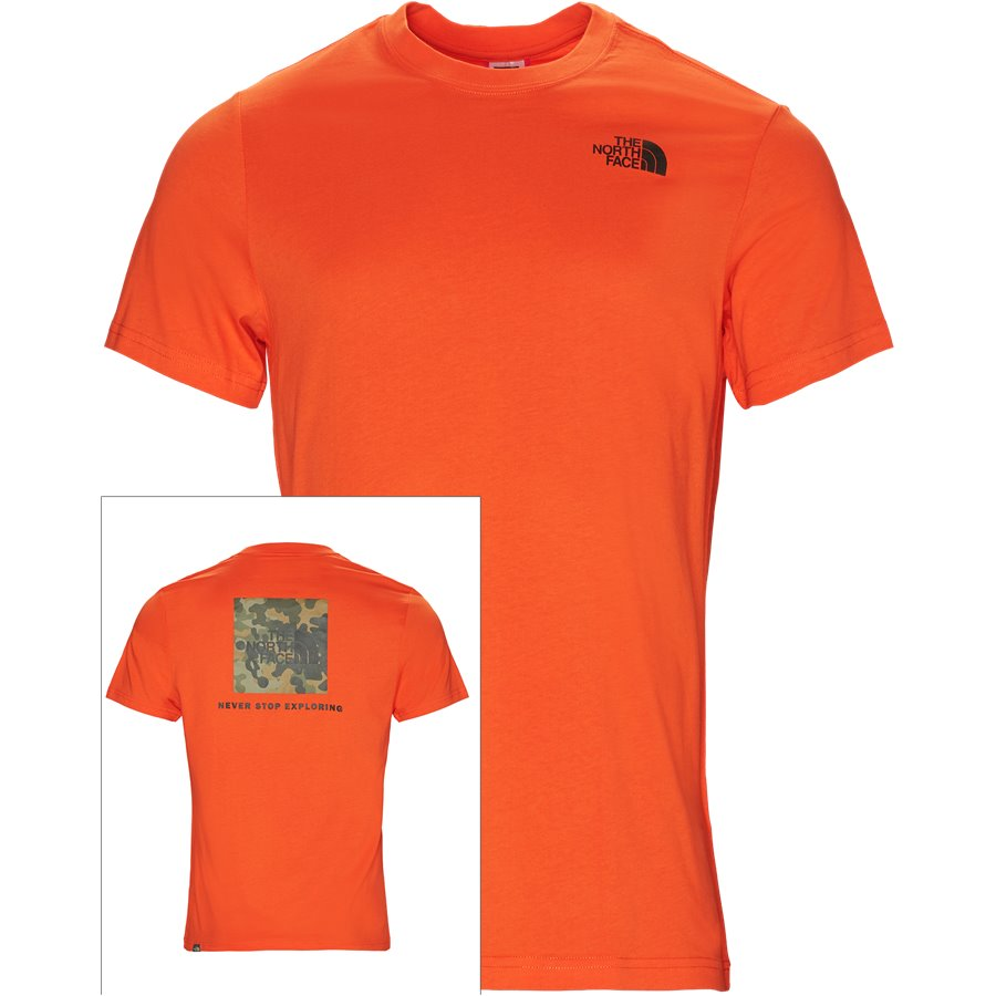 RED BOX TEE SS. - Red Box Tee - T-shirts - Regular - ORANGE - 1