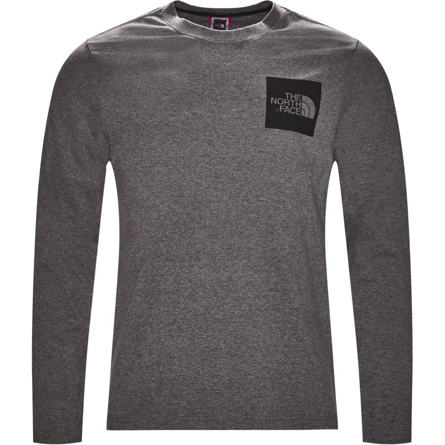 FINE TEE LS - Fine Tee LS - T-shirts - Regular - GRÅ - 1