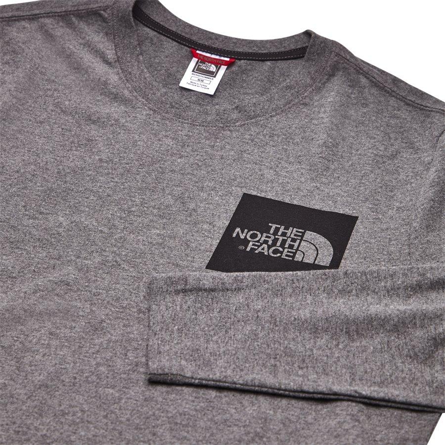 FINE TEE LS - Fine Tee LS - T-shirts - Regular - GRÅ - 3