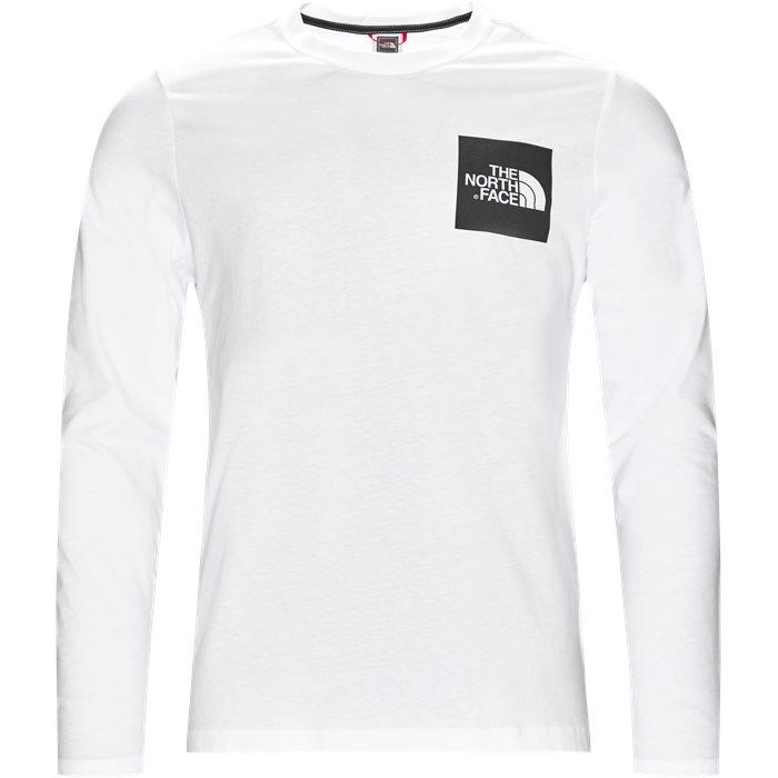 Fine Tee LS - T-shirts - Regular - Hvid