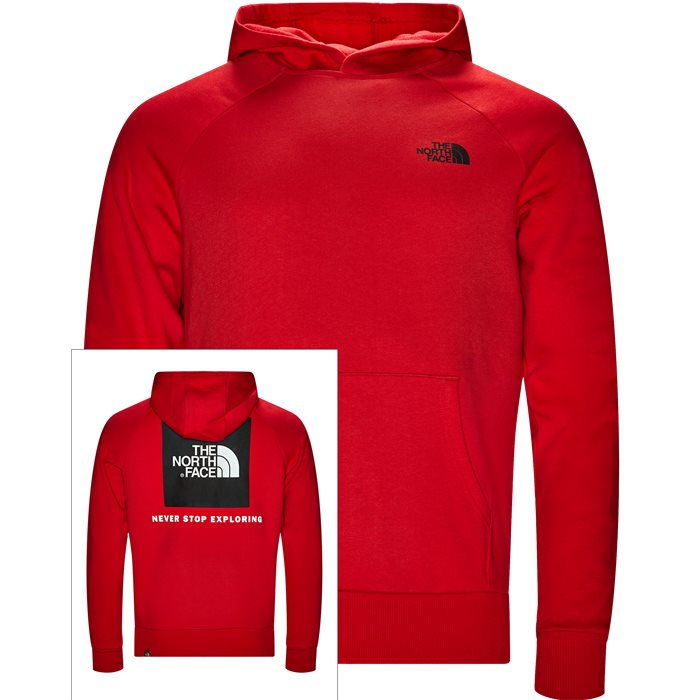 Raglan Red Box Hoodie - Sweatshirts - Regular - Rød