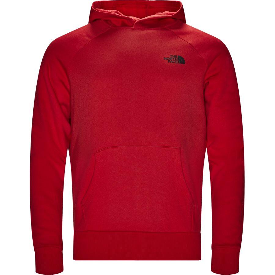 RAGLAN RED BOX HOODIE - Raglan Red Box Hoodie - Sweatshirts - Regular - RØD - 2