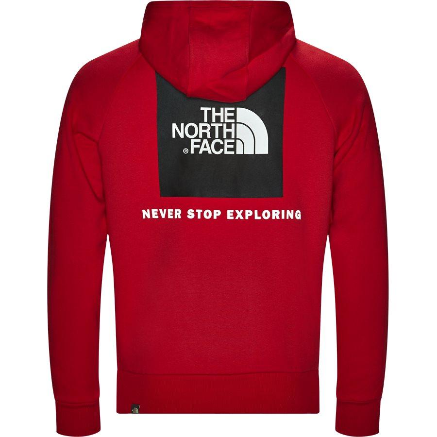 RAGLAN RED BOX HOODIE - Raglan Red Box Hoodie - Sweatshirts - Regular - RØD - 3