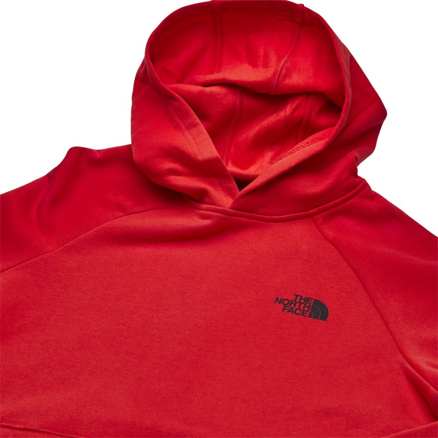RAGLAN RED BOX HOODIE - Raglan Red Box Hoodie - Sweatshirts - Regular - RØD - 4