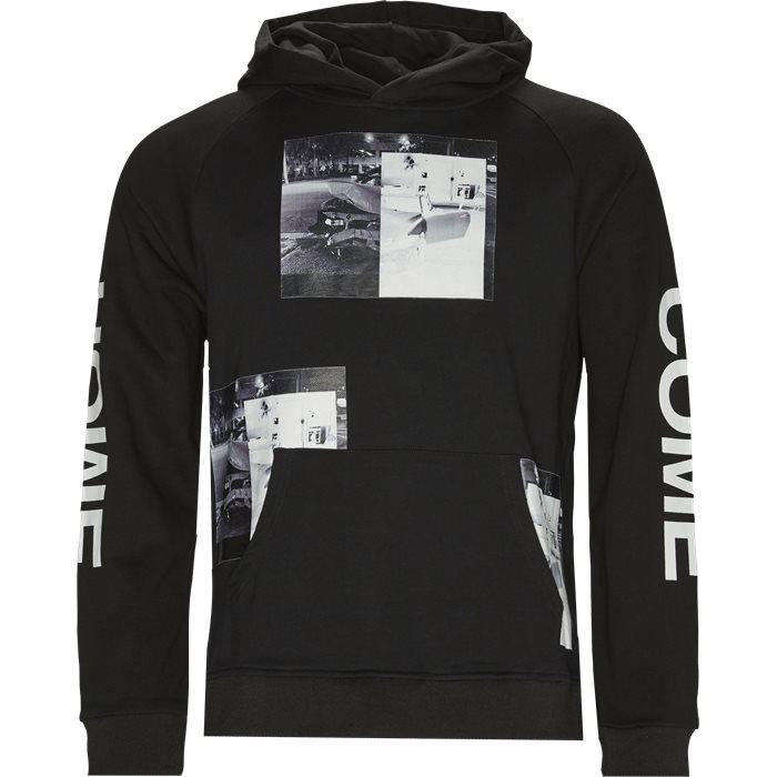 Car Crash Hoodie - Sweatshirts - Regular - Sort