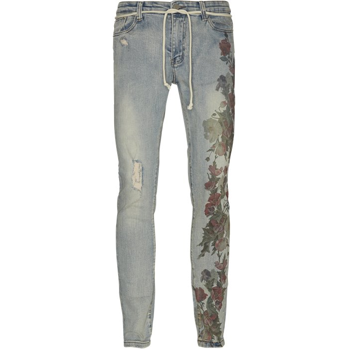 Printed Hand Art Jeans - Jeans - Regular - Denim
