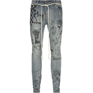 Printed Floral Jeans Regular | Printed Floral Jeans | Denim