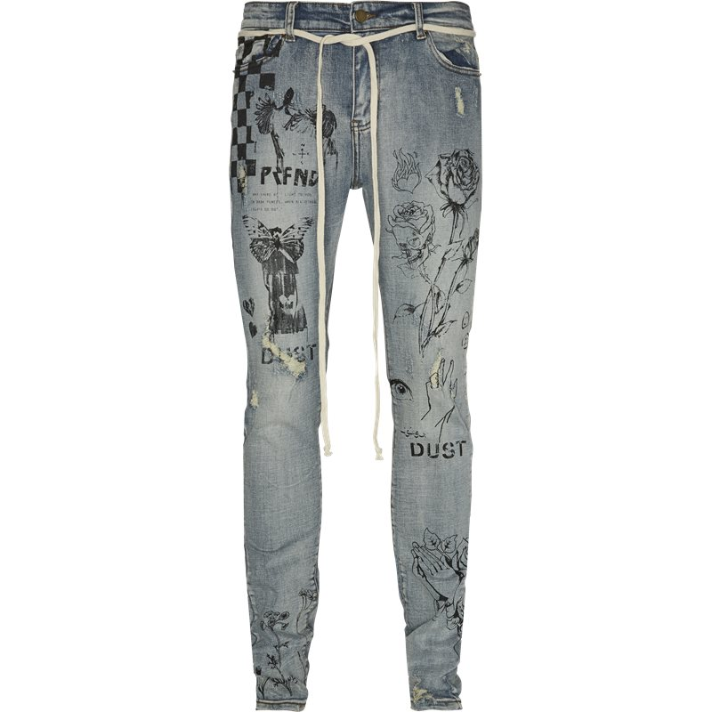 Profound Aesthetic Printed Floral Jeans Denim