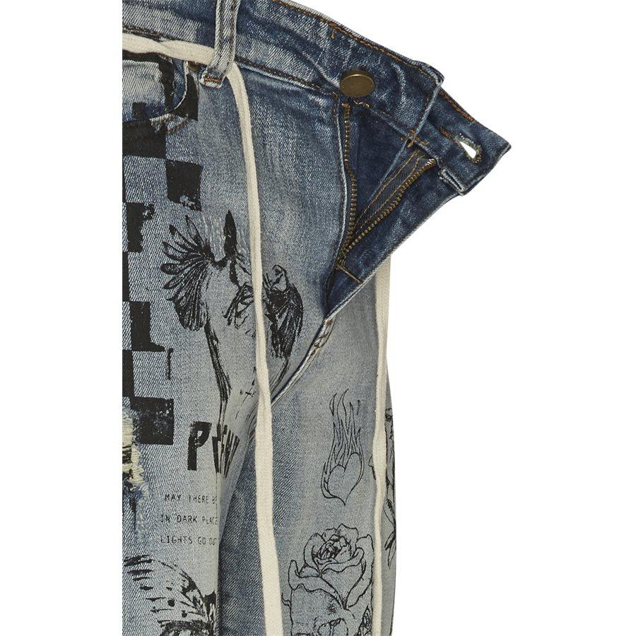 PRINTED FLORAL JEANS - Printed Floral Jeans - Jeans - Regular - DENIM - 4
