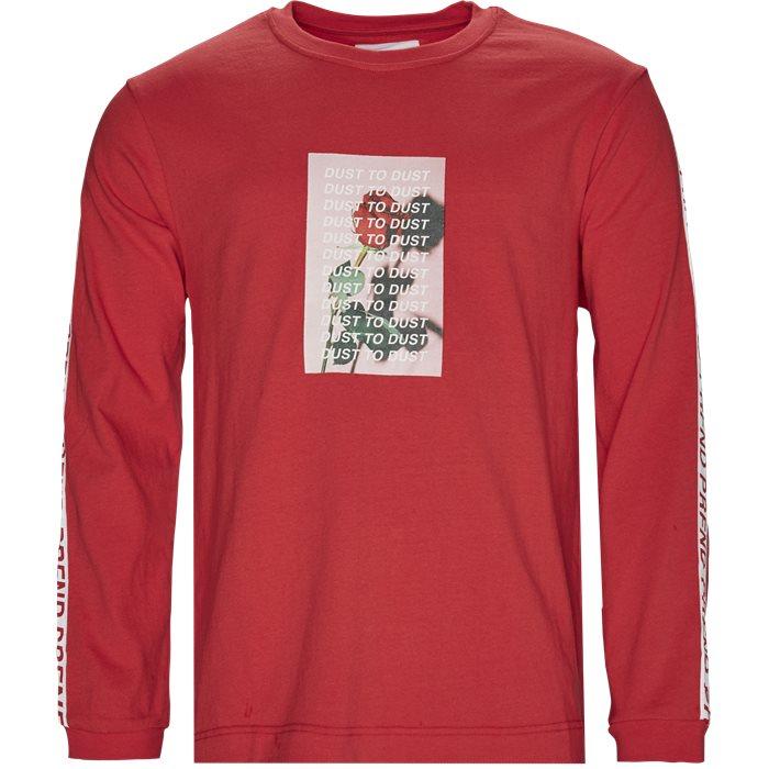 Rose Dust Long Tee - T-shirts - Regular - Rød
