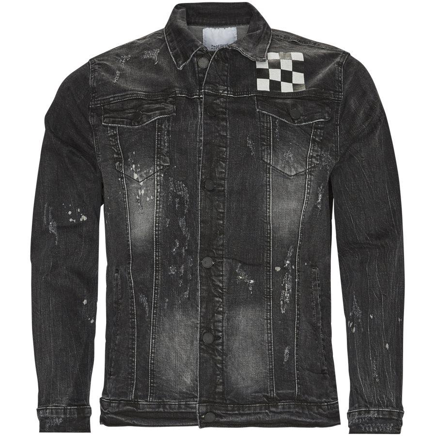 MISFIT CHECKERED DENIM JACKET - Misfit Checkered Denim Jacket - Jakker - Regular - SORT - 1