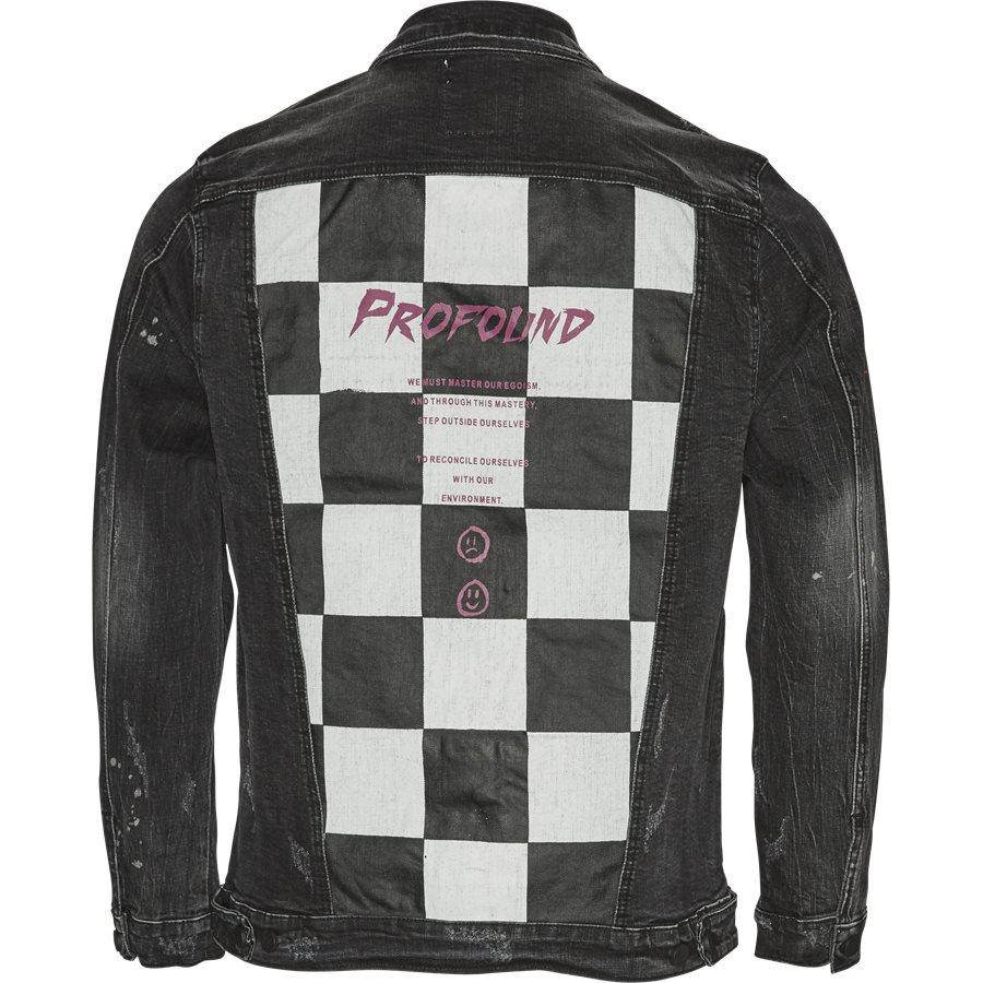 MISFIT CHECKERED DENIM JACKET - Misfit Checkered Denim Jacket - Jakker - Regular - SORT - 2