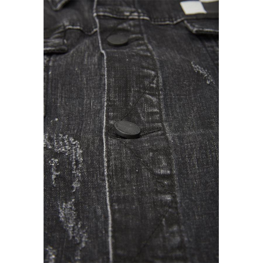 MISFIT CHECKERED DENIM JACKET - Misfit Checkered Denim Jacket - Jakker - Regular - SORT - 6