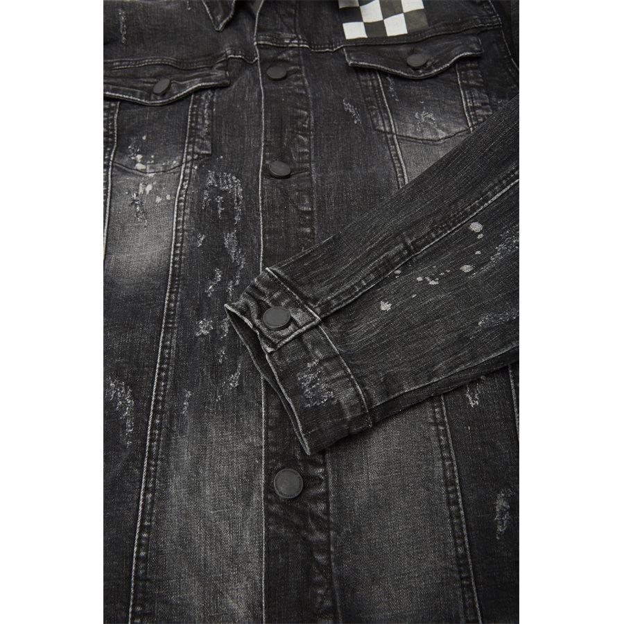 MISFIT CHECKERED DENIM JACKET - Misfit Checkered Denim Jacket - Jakker - Regular - SORT - 8