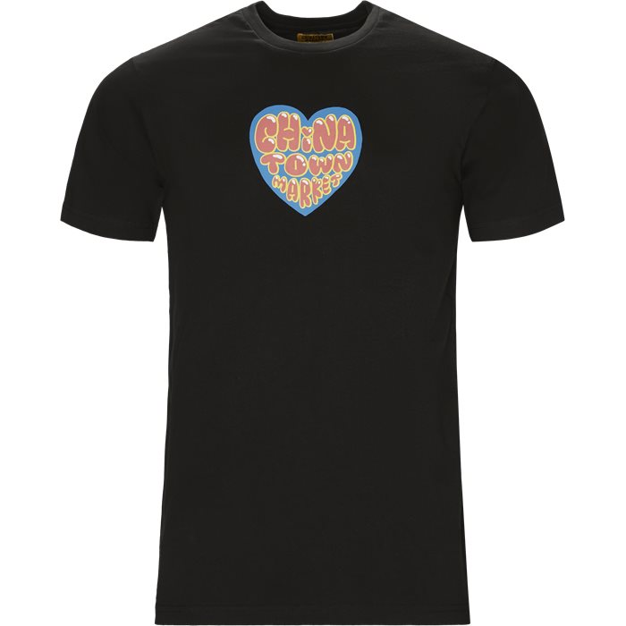 Heart - T-shirts - Regular - Sort