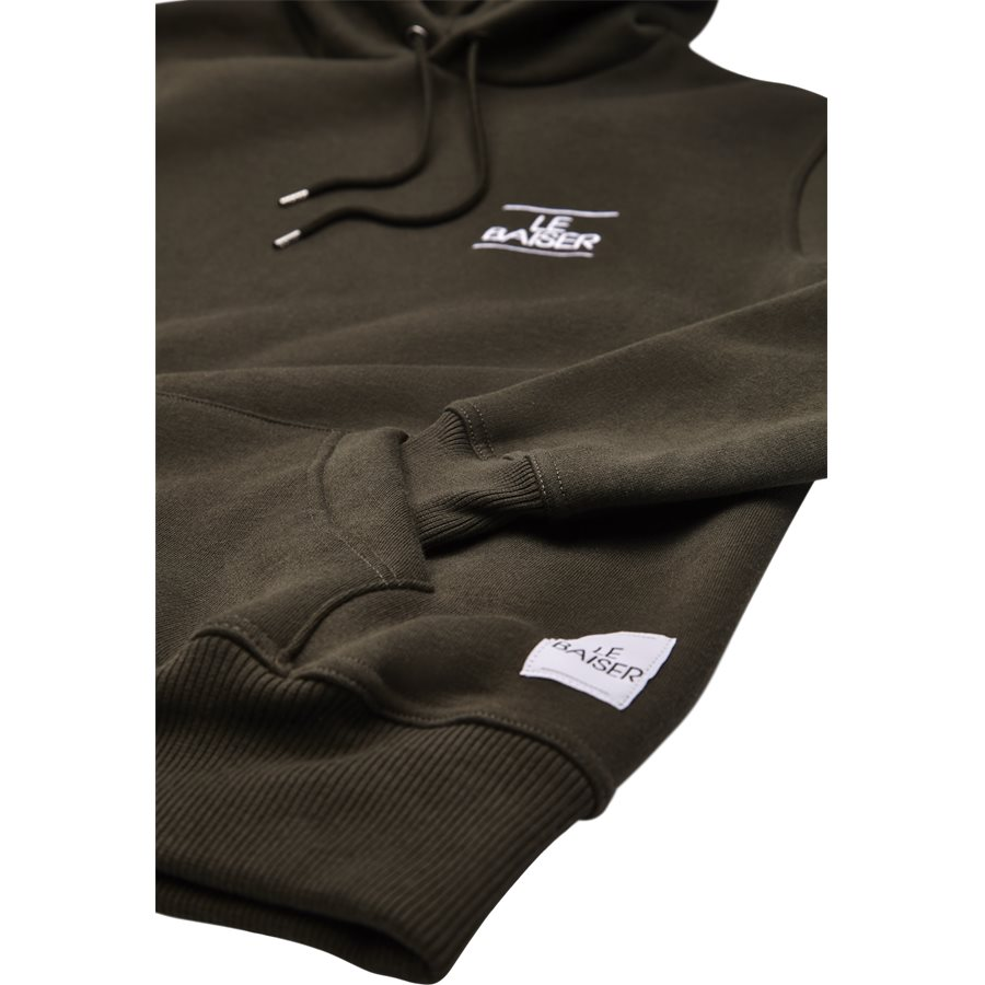 BESANCON - Besancon Sweatshirt - Sweatshirts - Regular - ARMY - 4