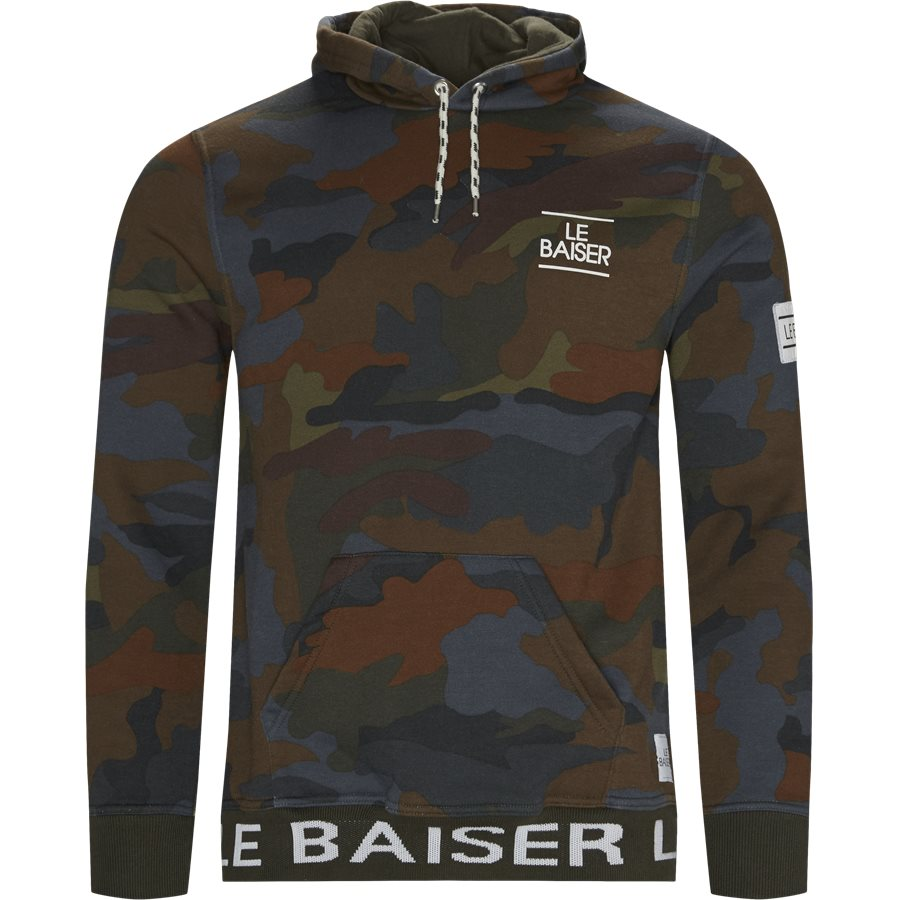 ROUEN - Rouen Sweatshirt - Sweatshirts - Regular - BRUN/OLIVE - 1
