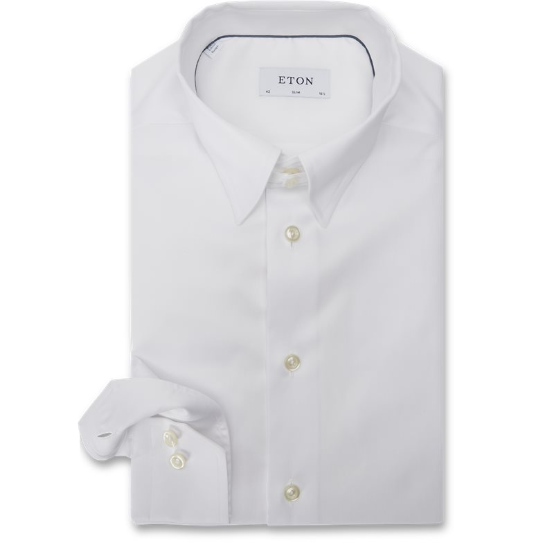 Eton - Tab Collar Cambridge Skjorte