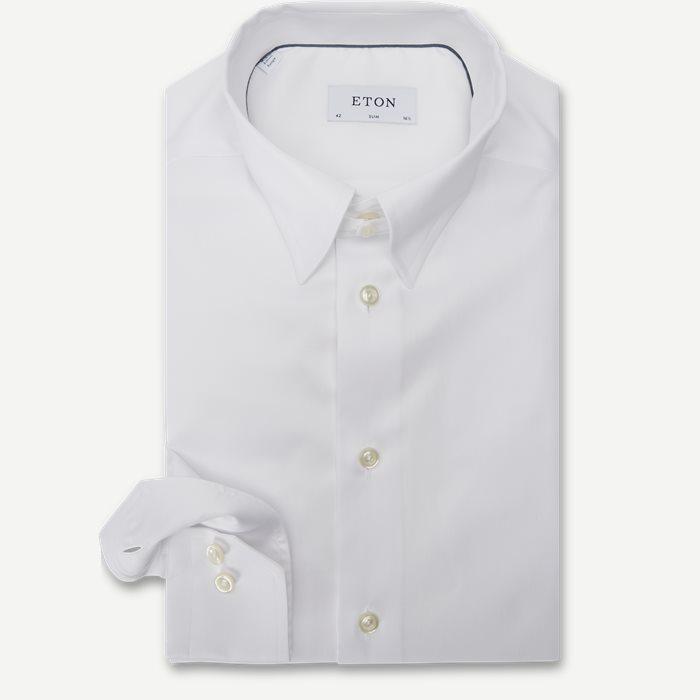 Tab Collar Cambridge Skjorte - Skjorter - Hvid