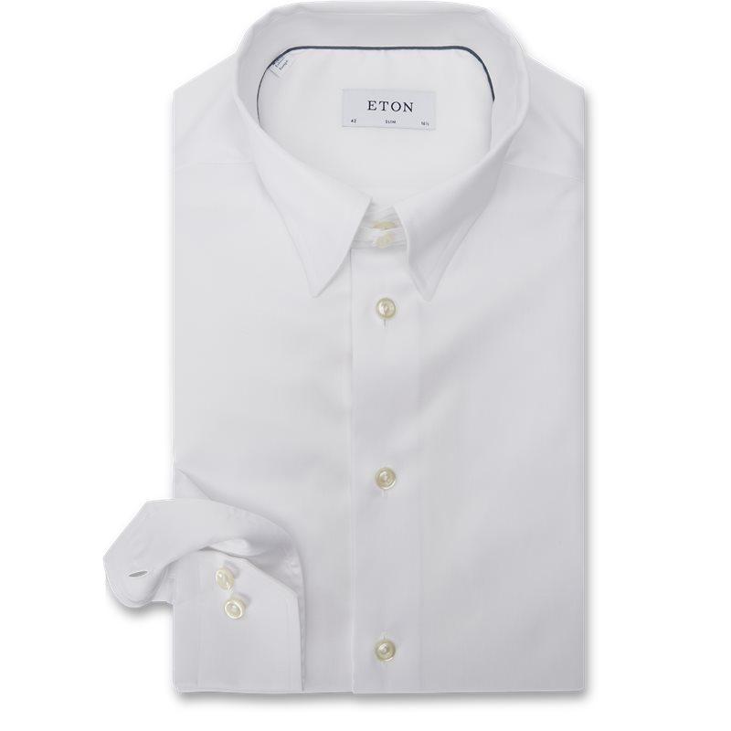 Image of   Eton - Tab Collar Cambridge Skjorte