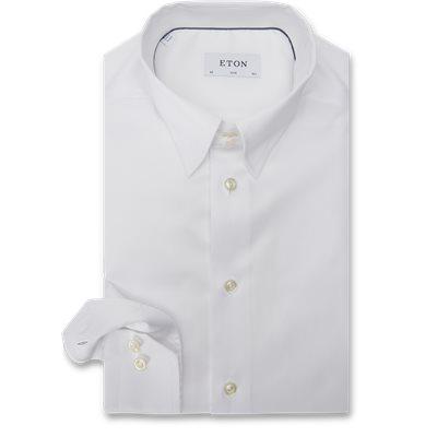 3000 Tab Collar Cambridge Skjorte 3000 Tab Collar Cambridge Skjorte | Hvid