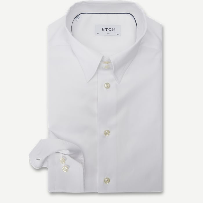 3000 Tab Collar Cambridge Skjorte - Skjorter - Hvid