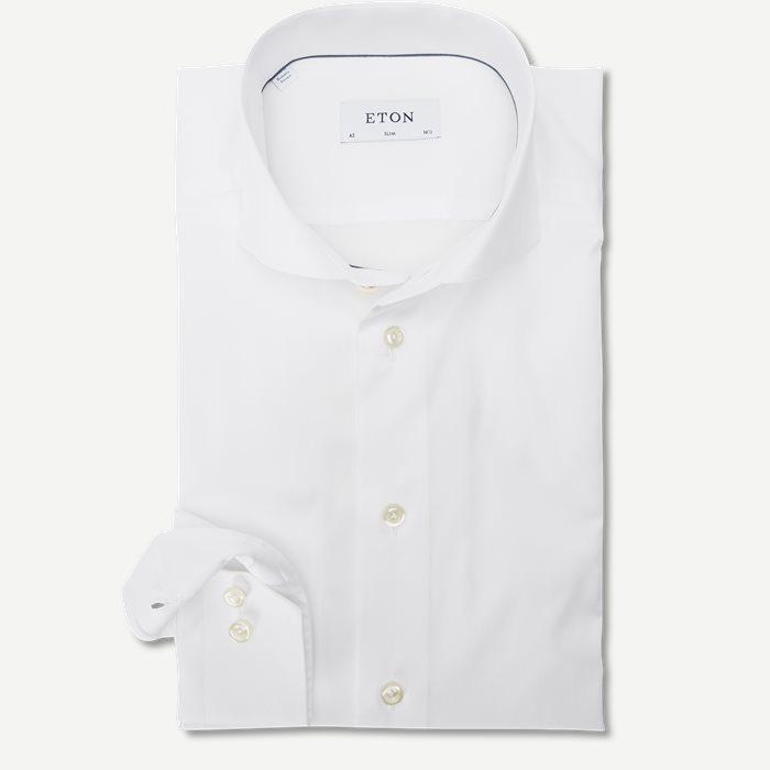 Extreme Cut Away Twill Skjorte - Skjorter - Hvid