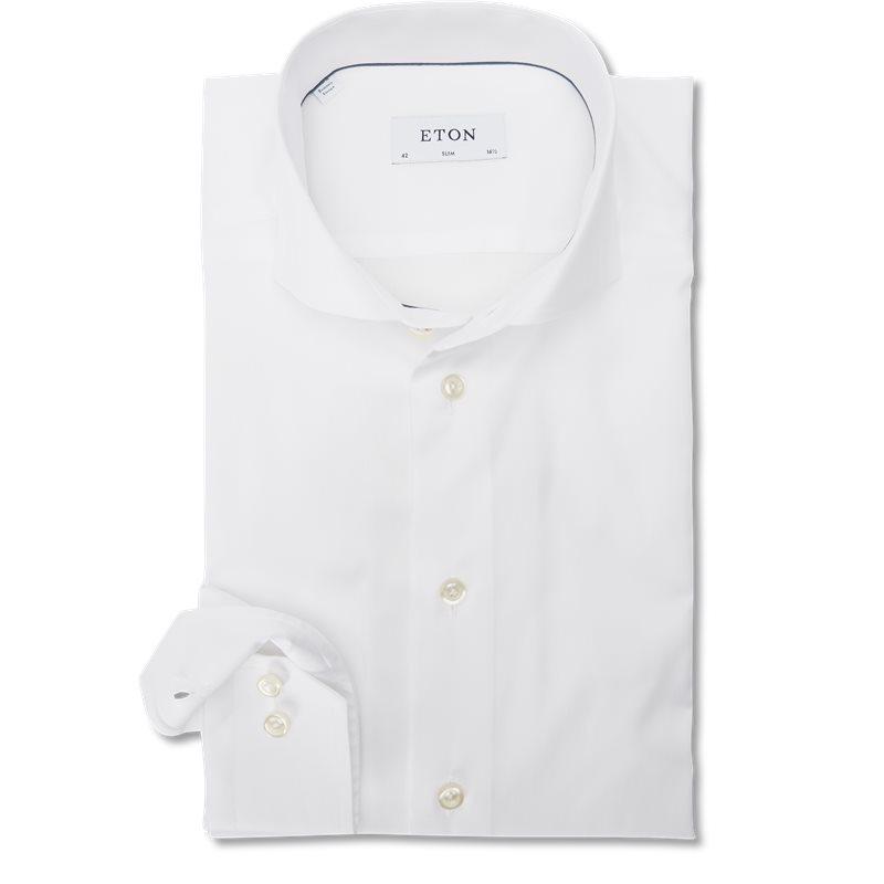 eton – Eton - 3000 extreme cut away twill skjorte fra kaufmann.dk