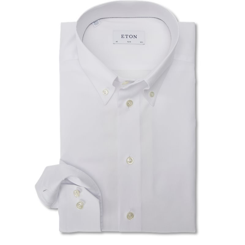 Eton - Button Down Pinpoint Skjorte