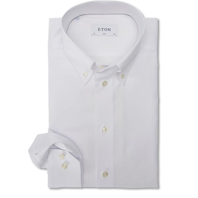 Image of   Eton - Button Down Pinpoint Skjorte