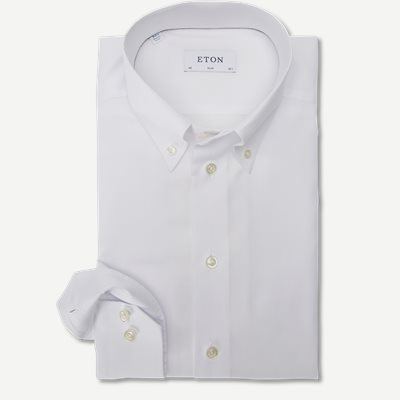 4706 Button Down Pinpoint Skjorte 4706 Button Down Pinpoint Skjorte | Hvid