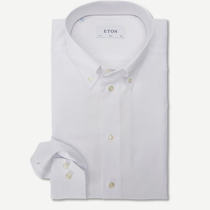 4706 Button Down Pinpoint Skjorte - Skjorter - Hvid