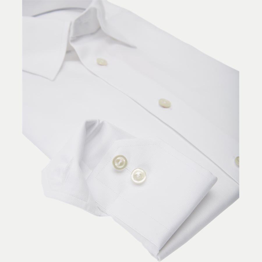 3000 61311/61511 - 3000 Button Under Twill Skjorte - Skjorter - HVID - 4