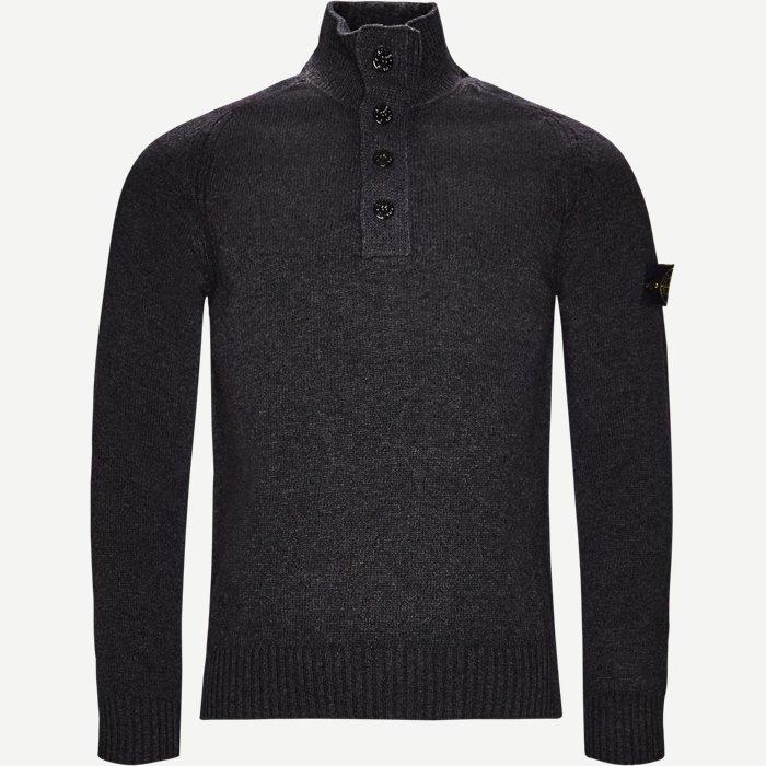 Half zip Knit - Strik - Regular - Grå
