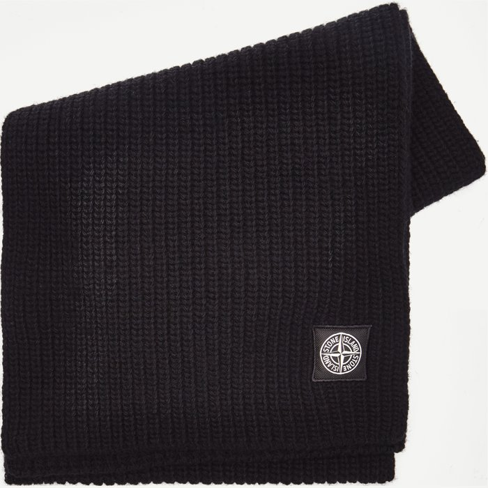 Wool Scarf - Tørklæder - Sort
