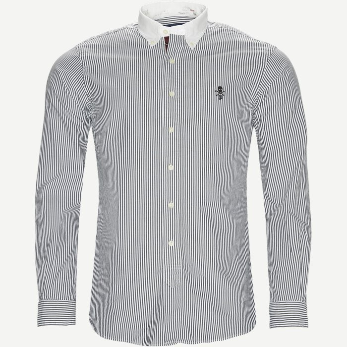 Skull Shirt - Skjorter - Slim - Sort