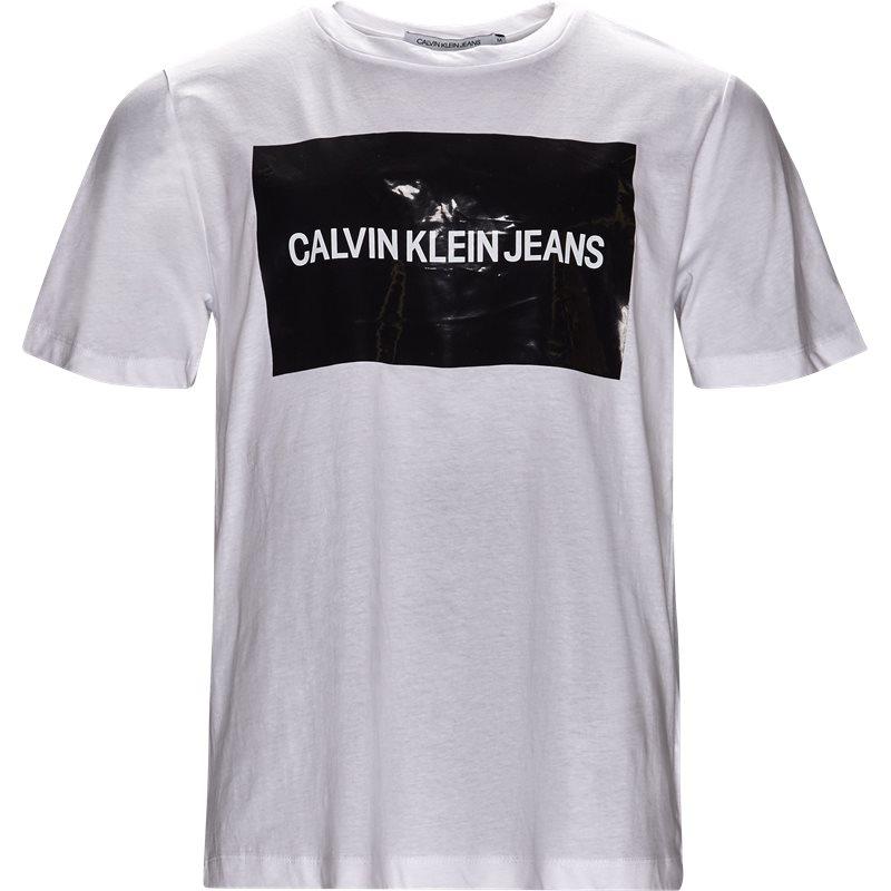 Calvin klein jeans t-shirt white fra calvin klein jeans på axel.dk
