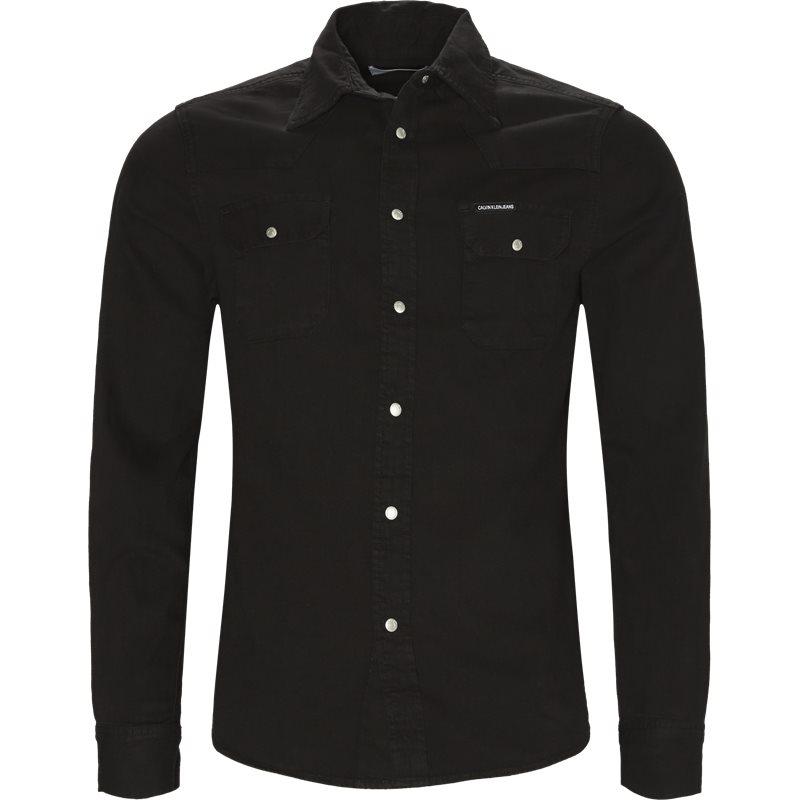 Calvin klein jeans skjorte black fra calvin klein jeans på axel.dk