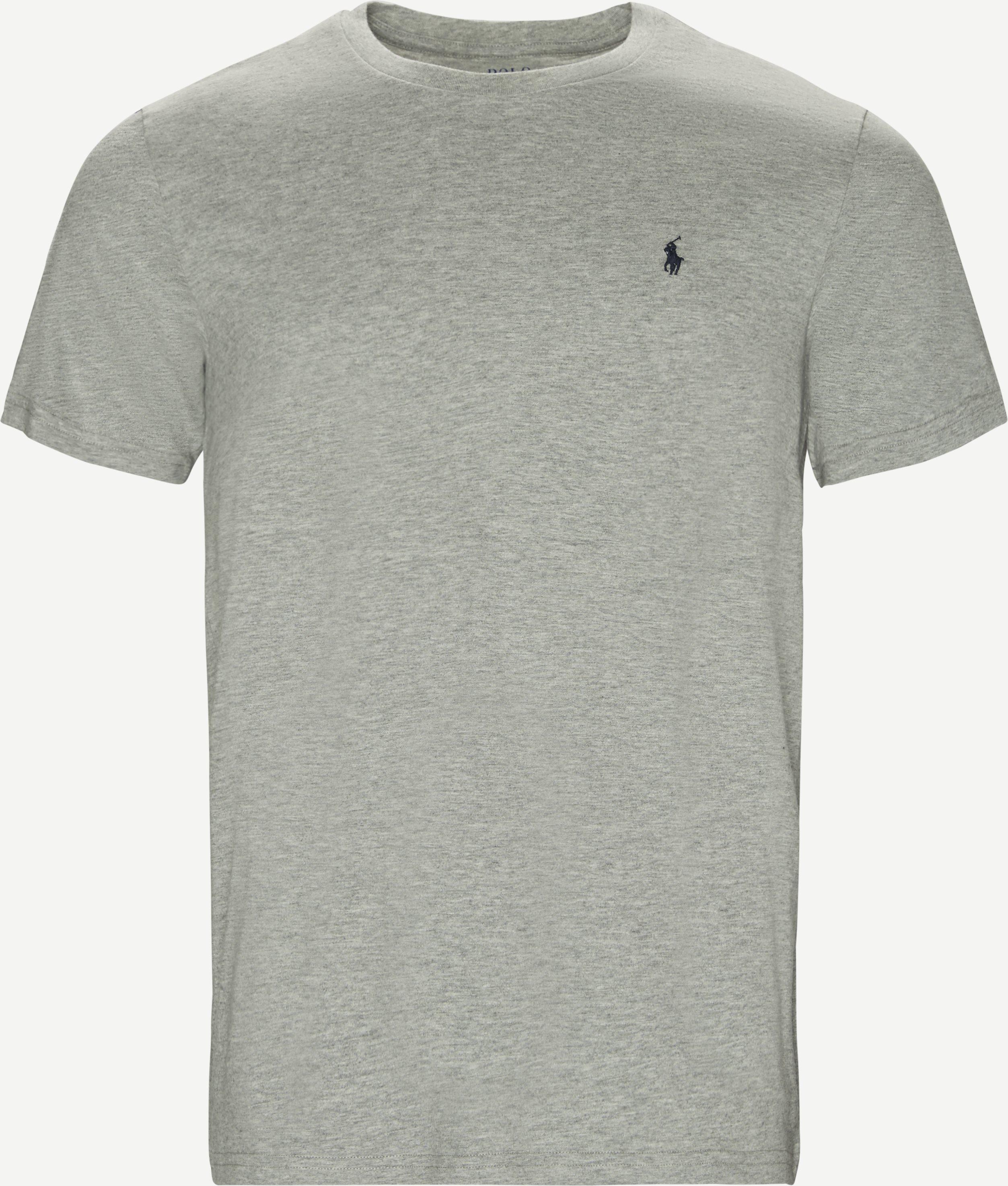 Classic Crew Neck Tee - T-shirts - Regular fit - Grå