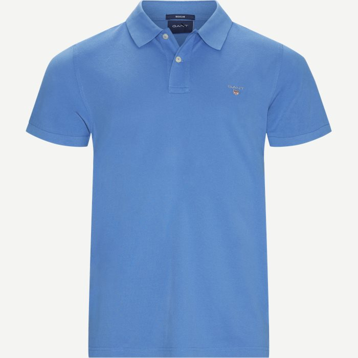 The original Pique SS Rugger Polo T-shirt - T-shirts - Regular - Blå